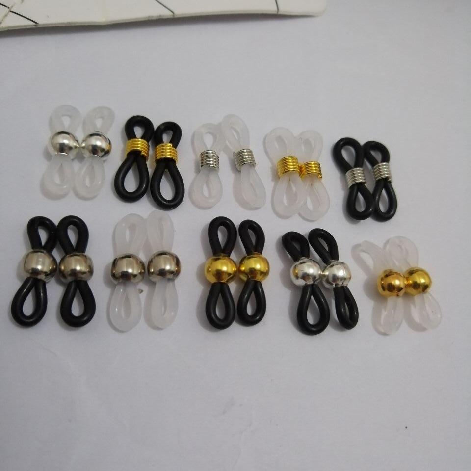 1000pcs Eyewear Jewelry Findings Black White Rubber Band For Making Eyeglasses Chain Eyewear Holder Glasses Rope