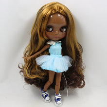 ICY Neo Blythe Doll Brown Golden Hair Jointed Body 30cm