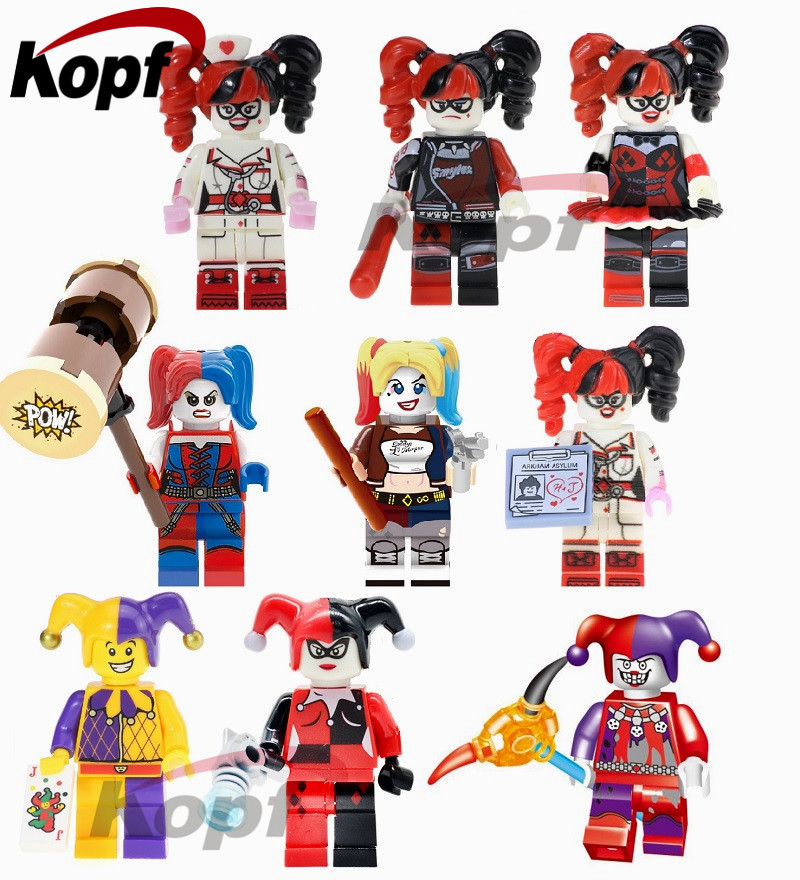 Single Sale Super Heroes Harley Quinn Joker Catwoman Vacation Batman Bricks Action Figures Building Blocks Children Gift Toys