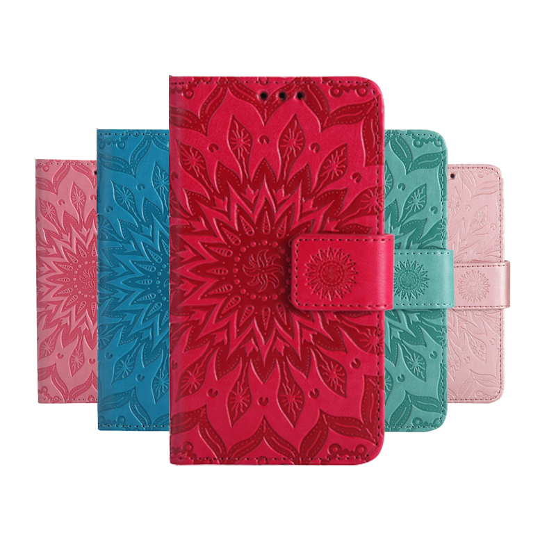 <font><b>Phone</b></font> Coque PU Cover <font><b>Case</b></font> for <font><b>Samsung</b></font> <font><b>Galaxy</b></font> <font><b>A3</b></font> A5 J3 J5 J7 S3 S4 S5 S6 S7 S8 S9 Edge Plus 2015 2016 <font><b>2017</b></font> With Sun Flower Wallet image