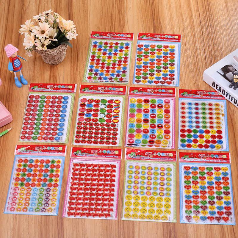 EHBqna 3pcs Bambini Volti Ricompensa Notebook Adesivi Scrapbooking Insegnante di Scuola Merito Lode Classe di Carta Adesiva Lable Decor Nuovo Caldo