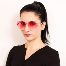 Norrath Sunglasses For Women Square Rimless Diamond cutting 2018 UV400 Sun glasses Fashion Holiday Brand Designer