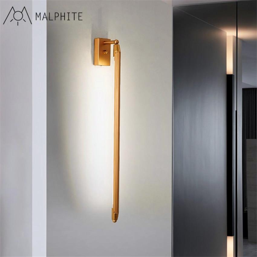 Postmoderna escalera pasillo Sala espejo frontal luz T5 tubo largo de la pared de dormitorio cabecera led creativo de la pared de la lámpara - 2