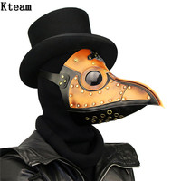 2017 New Arrival PU Leather Steampunk Steam Punk Gothic Bird Beak Mask Plague Doctor Cosplay Halloween