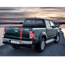 1PC tailgate laser radiation line racing styling graphic car sticker for TOYOTA HILUX revo or vigo