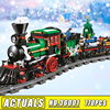 Lepin 36001 770Pcs Creative Series The Christmas Winter Holiday Train Set Children Building Blocks Bricks Christmas