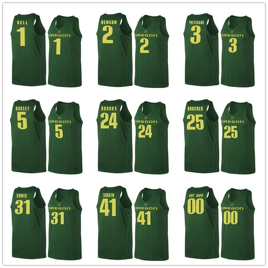 Oregon Ducks Basketball Jerseys 1 Jordan Bell 2 Casey Benson 3 Pritchard 5 Tyler Dorsey 24 Dillon Brooks 25 Chris Boucher 31 En casey stengel