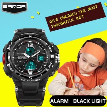 2017 New Children Watches Cute Kids Watches Sports Cartoon Watch for Girls Boys Rubber Children's Digital LED Wristwatches Reloj 4