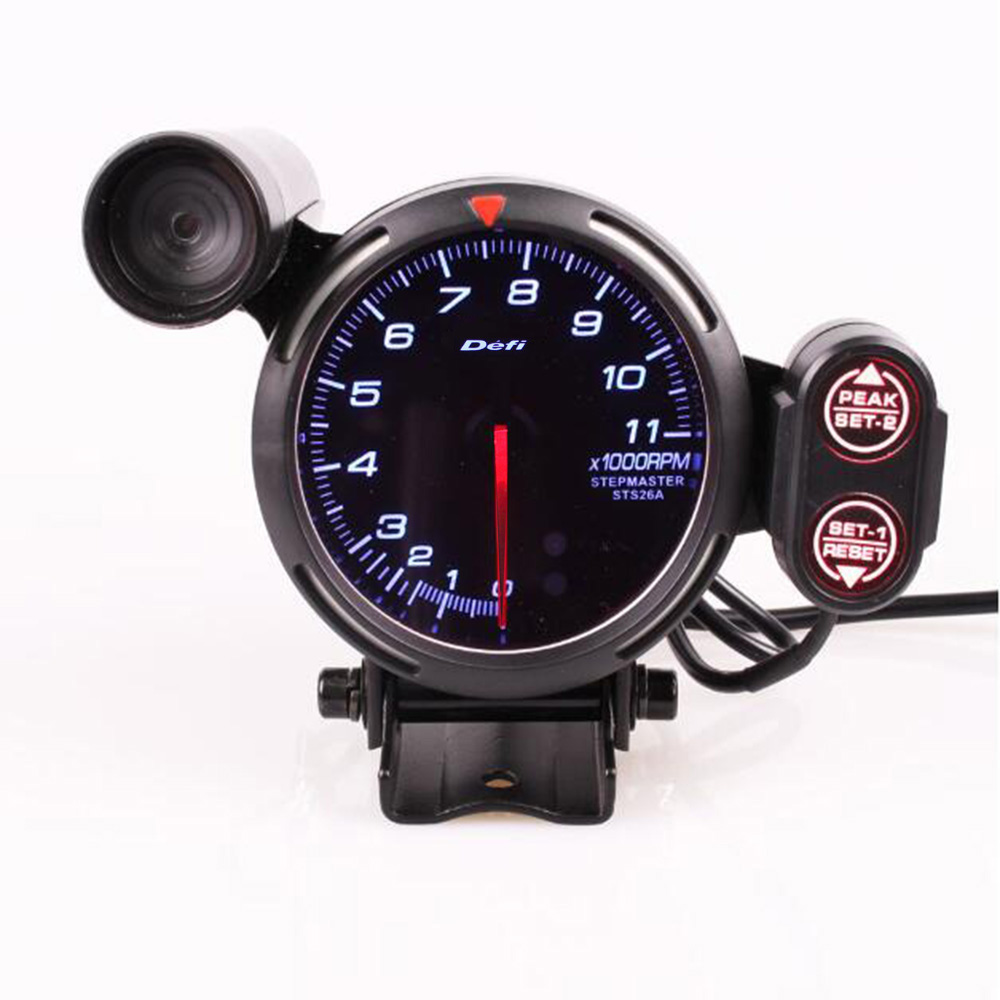 Bf 3 75 Inch Motor Car Led Tachometer 11000 Rpm Gauge Adjustable Shift Light Stepping With Backlight Tachometers Aliexpress