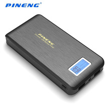 Carregador de Bateria 100% Original Pineng Pn-952 Móvel Power Bank 15000 MAH Dual USB LCD Lanterna Powerbank Externo de Telefones