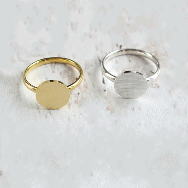 Gold Color Anel Dainty Full Moon Rings Best Friend Gifts Coin Shaped Jewelry Sta