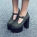 Nueva Primavera 2017 Sexy Solos Zapatos de tacón alto Gruesos Impermeables 15 CM Tacones Altos Zapatos de Las Bombas