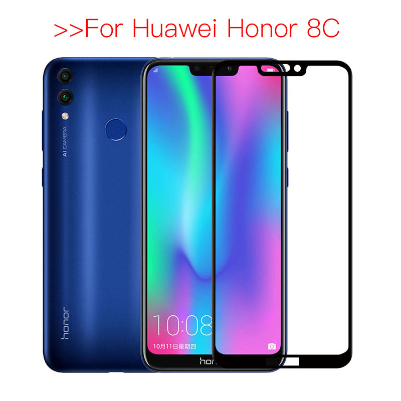 Tempered Glass For Honor 8c Protective Glass On For Huawei Honor 8c Safety Screen Protector Honer 8c BKK-L21 Honor8c 8 C C8 Film