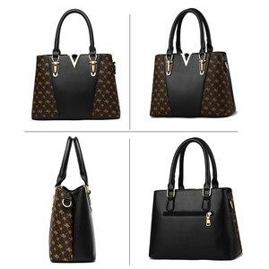 Image 2 - 2PCS ผู้หญิงกระเป๋าหนังกระเป๋าถือผู้หญิงกระเป๋าถือสุภาพสตรีกระเป๋าสะพายกระเป๋าผู้หญิงหรูหรา V หญิง SAC A หลัก