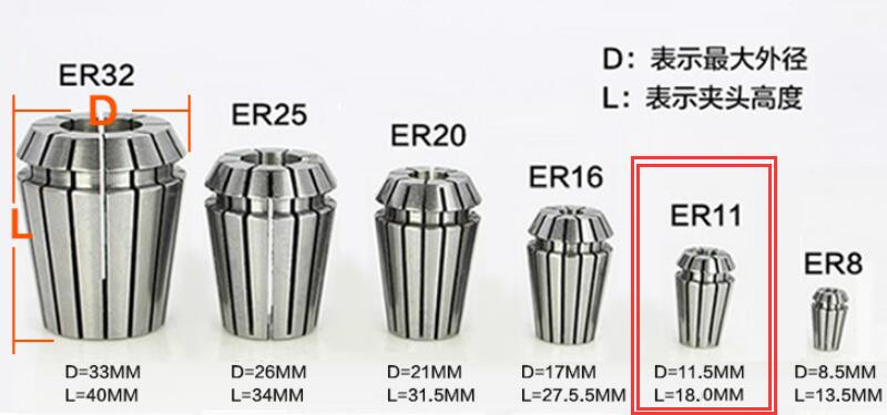 Spannzange ER11 D 1-8  mm