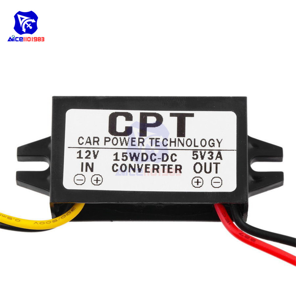 Image 3 - DC/DC Buck Converter Regulator 12V to 5V 3A 15W Car Monitor Power Supply-in Integrated Circuits from Electronic Components & Supplies