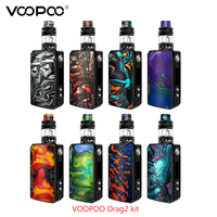 Electronic cigarette Voopoo Drag 2 177W TC Kit With Uforce T2 SubOhm Tank U2/U3 Powered By Dual 18650 Battery VS DRAG 157W