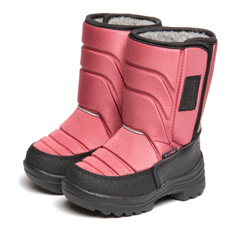 FLAMINGO Winter Wool Warm Waterproof High Quality Kids Shoes Anti-slip Orthotic Arch Size 23-28 Snow Boots for Girl 82M-QK-0923 fedonas top quality winter ankle boots women platform high heels genuine leather shoes woman warm plush snow motorcycle boots