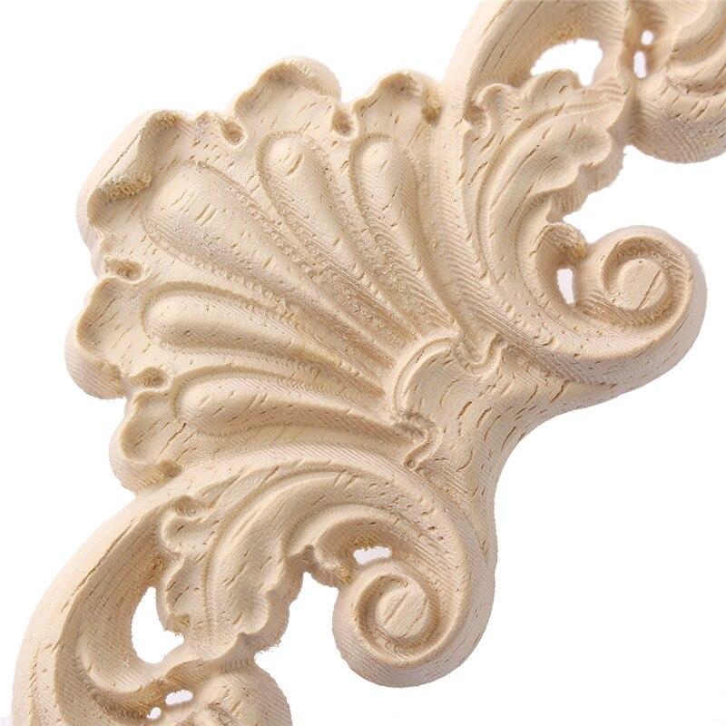 Kiwarm Vintage Flower Design Carpenter Oak Wood Carved Corner Onlay