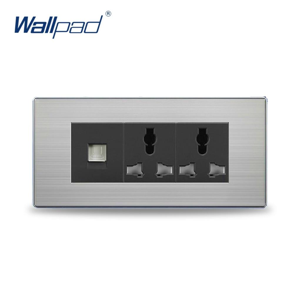 2018 COM 6 Pin Universal Socket Hot Sale China Manufacturer Wallpad Push Button Luxury Wall Light Switch Outlet