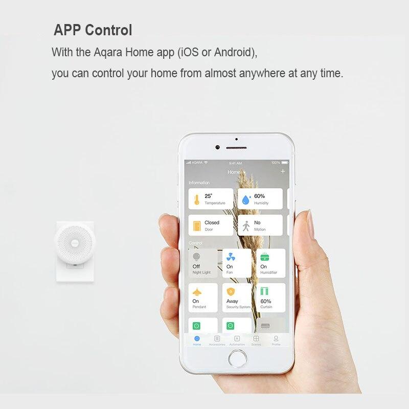 Image 4 - Original Xiaomi Mijia Aqara Hub , Mi Gateway2 with RGB Led night light Smart work with For Apple Homekit and aqara smart App-in Smart Remote Control from Consumer Electronics