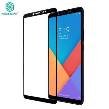 Xiao mi mi max 3 강화 유리 xiao mi mi max 3 유리 nillkin cp + 2.5d 전체 덮개 화면 보호기