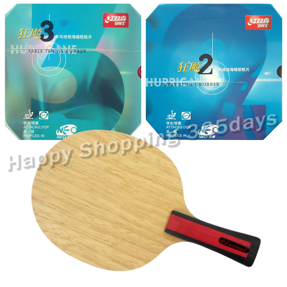 ФОТО Original Pro Table Tennis PingPong Combo Racket  61second 3004 Shakehand with DHS NEO Hurricane 2 and NEO Hurricane 3