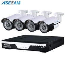 New Super 4ch Full hd 4MP Surveillance CCTV DVR H.264 Video Recorder AHD Outdoor Metal Bullet Security Camera System Kit