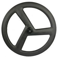 цена на new design 3 spoke 451 carbon wheels 451 tri spoke BMX carbon wheelset clincher wheels 11s fixed gear wheels