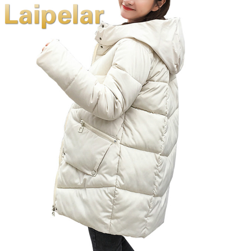 women   parka   2018 Winter Jacket Women Coats Hooded Coats Female   Parka   Thick Cotton Padded Lining Winter Female Coats Laipelar