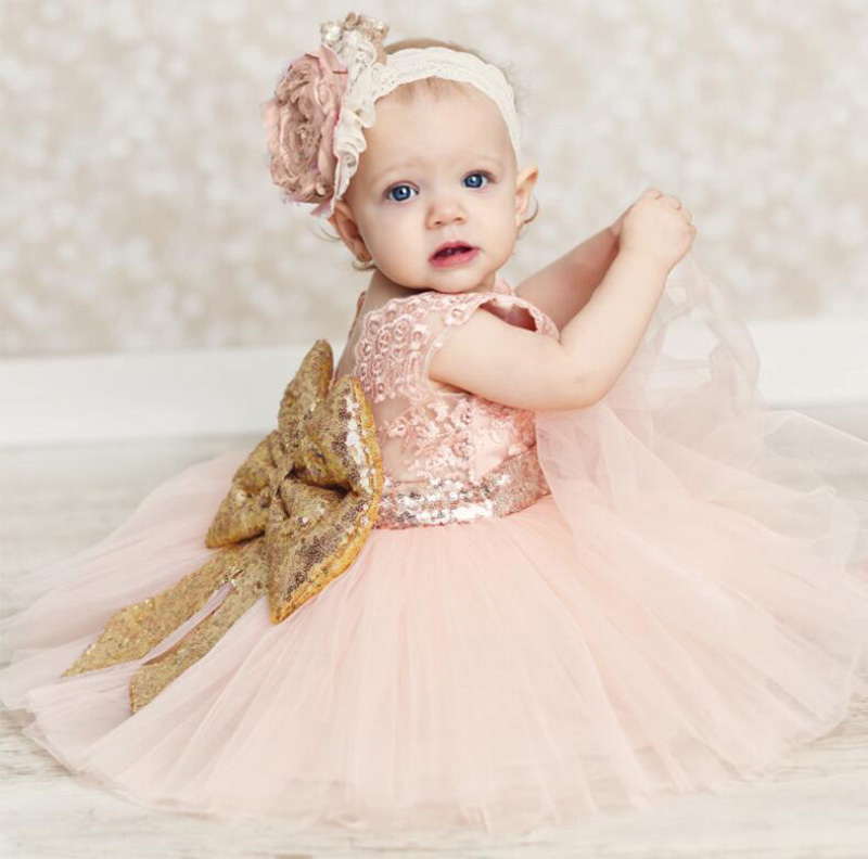 LZH Summer Baby Girls Dress Kids Sequins Bowknot Wedding Party Dresses Christmas Costume Girls Princess Dress For Girls Clothes 19