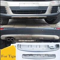Подходит для VW Volkswagen Tiguan 2013 2014 2015 2016 Передний + задний бампер диффузор бамперы для губ протектор