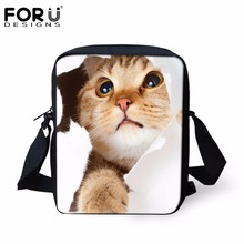 FORUDESIGNS Small Children School Bags Cute Animal Cat Pug D