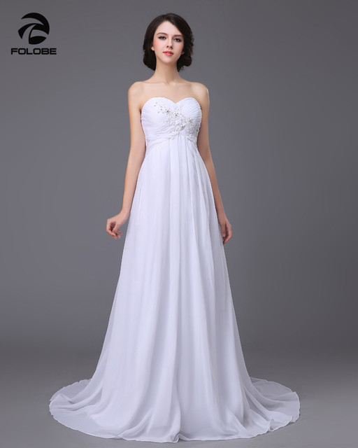 Hot Selling Vestido De Novia Custom Made Chiffon Applique Beading Lace Beach Wedding Dresses Strapless Vestido Novia Bridal Gown
