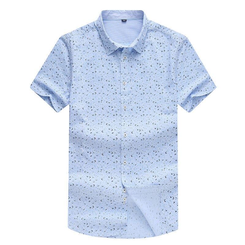 8xl Impression 100 Engrais Coton Grand Casual Plus Courtes Taille D'été Grande 1 Code À La Et Shirt Revers Chemise Manches Entreprise w0T0dqgtrx