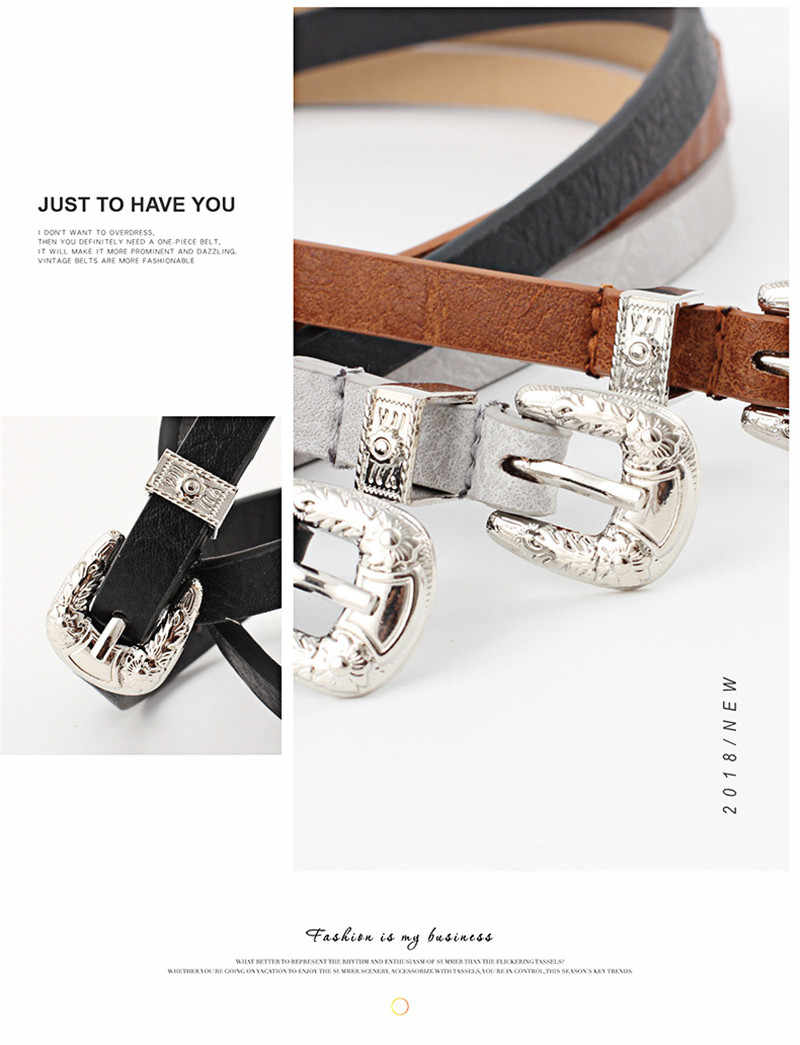 2019 élégant femmes rétro spéléologie broche boucle ceintures haute qualité luxe mince en cuir taille ceinture concepteur ceintures pour jean robe hauts