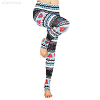 Lovely Christmas Tree 3D Leggings Women Push Up Pencil Pant Gothic Crop Femme Leggins Xmas Mujer