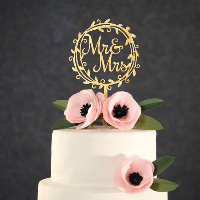 Personalized Cake Toppers Wedding | Wooden Wedding Cake Toppers Mr Mrs Cake Topper Personalized Cake