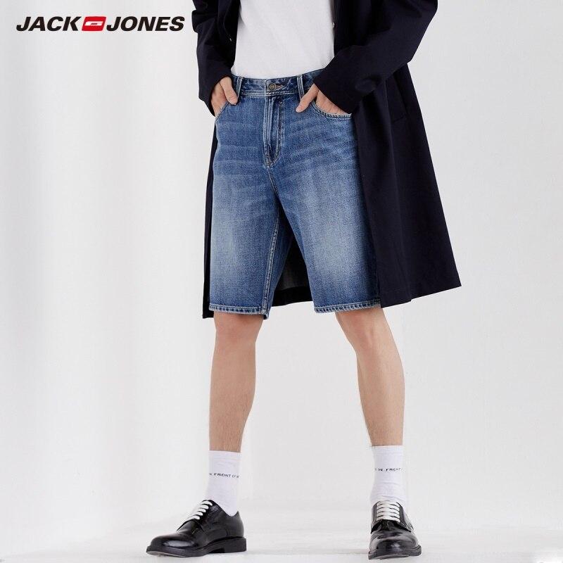 Jack Jones Men's 100% Cotton Knee-high Denim Shorts|219243502