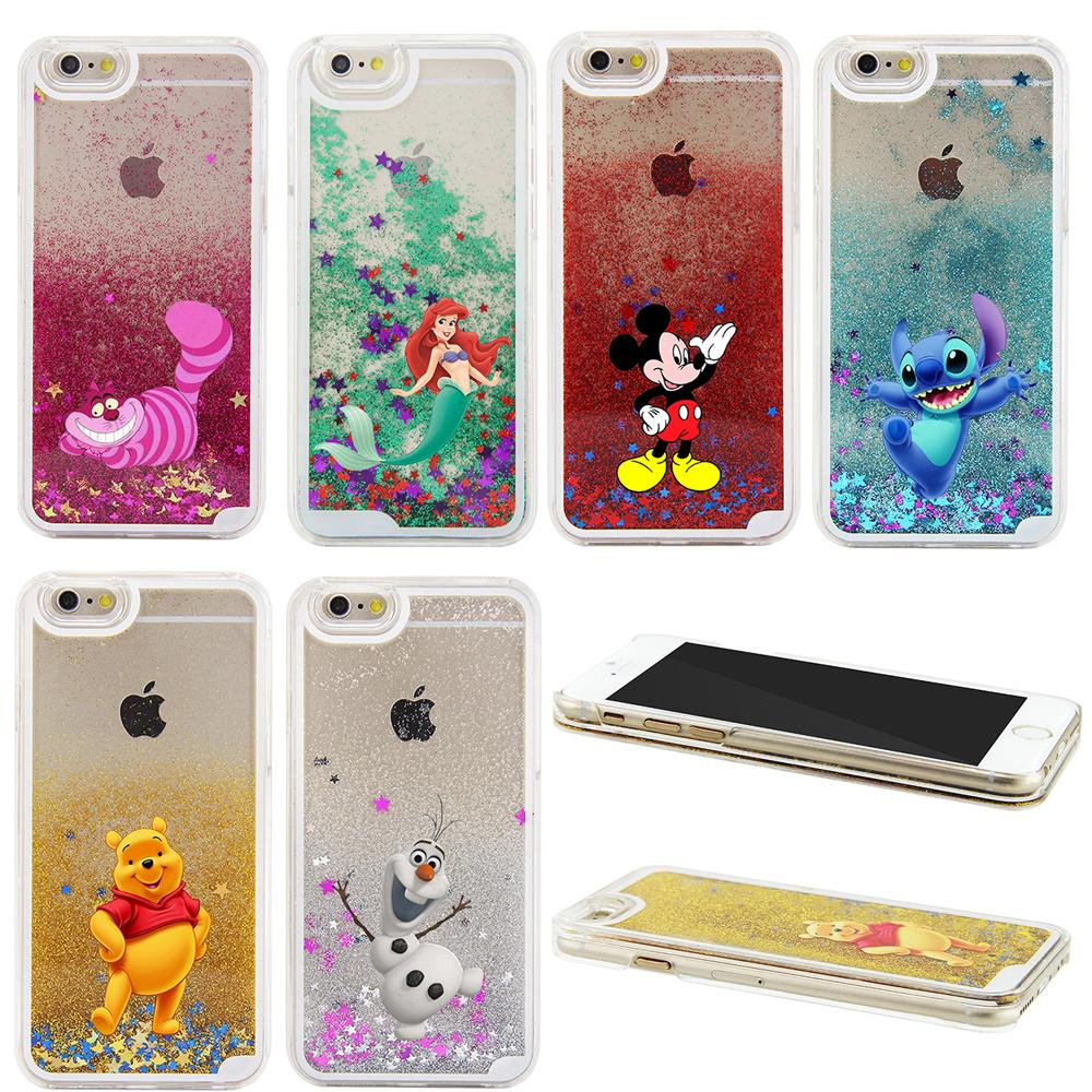 finest selection 1d2d9 ffa6b 2016 NEW 3D Liquid Sparkle Cartoon The Little Mermaid Winnie Pooh  Transparent Case Cover For iPhone 6 6S 6 PLUS 6S PLUS 7 7 PLUS-in Phone  Cases from ...