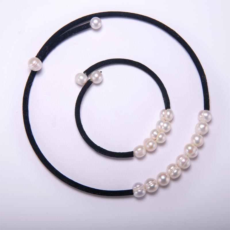 Daimi Pearl Necklace Bracelet Suit Collar Pearl Necklace Pearl Bracelet 2 Sets Sent to Mom