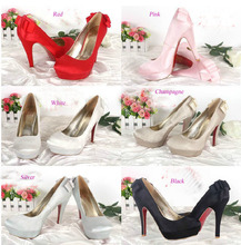 Spring White Champagne Bridal Wedding Dress Shoes Super High Heel Platform Lady Fashion Shoes Banquet Party Shoes for woman