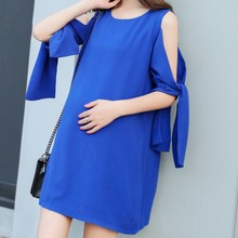Strapless Maternity Dresses Summer Korean Chiffon Irregular Butterfly Sleeve Pregnancy Dress Fashion Clothes for Pregnant Women