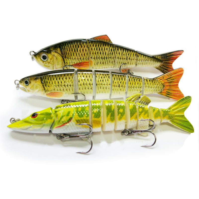 Multi joints Fish Isca Artificial Pike Lure Muskie Fishing Lures Swimbait Crankbait Hard Bait Fishing Wobblers Lifelike variety of blank hard fishing lures crankbait vib minnow wobblers unpainted lure bodies freshwater fish lure peche tackle
