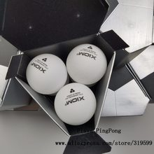 Xiom New Material Plastic 40+mm ITTF Approved 3-Star Table Tennis Balls White Ping Pong Balls(China)