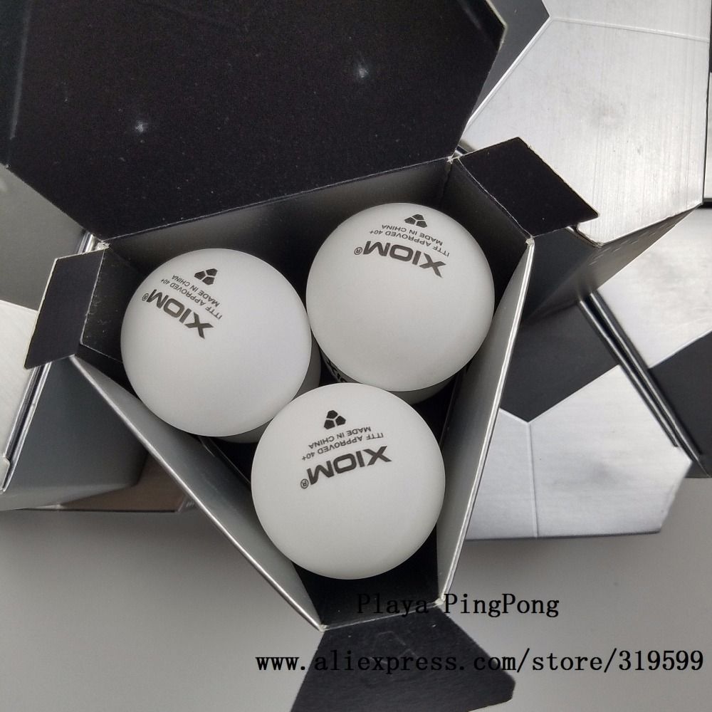 Xiom New Material Plastic 40+mm ITTF Approved 3-Star Table Tennis Balls White Ping Pong Balls
