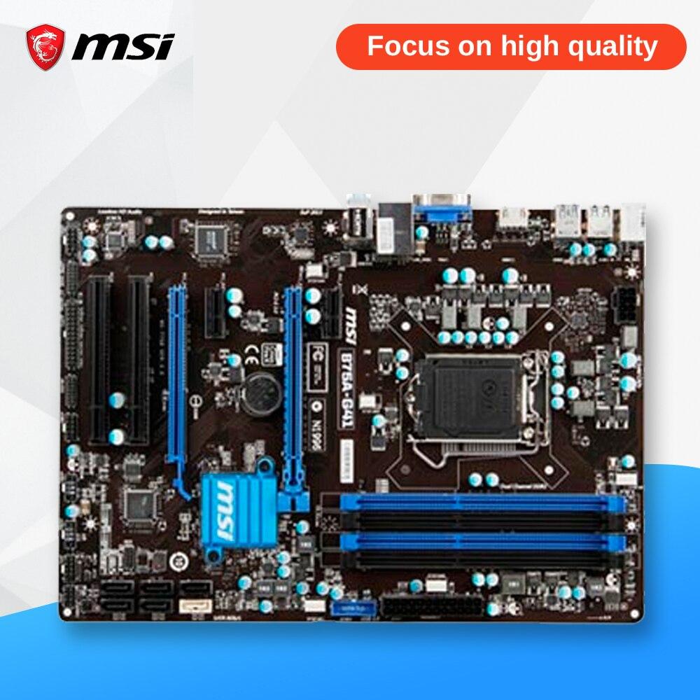 MSI B75A-G41 Original Used Desktop Motherboard B75 Socket LGA 1155 i3 i5 i7 DDR3 32G SATA3 USB3.0 ATX On Sale msi 970a g46 original used desktop motherboard 970 socket am3 ddr3 32g stat3 usb3 0 atx on sale