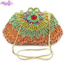 Diamond Package Dinner Evening Banquet Purses Evening Crystal Women Wallets Ocean Crabs Design Popular Vintage bag Packages Gold