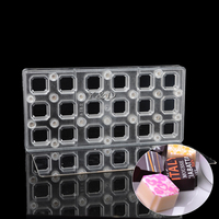 Square Transparent Magnetic Polycarbonate PC Chocolate Cake Molds Transfer Magnet Board Sheets Mould With Mirror Steel