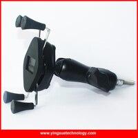 Universal Moto Guidon En Aluminium Alliage Téléphone portable Mount Holder Stand avec une Bande Élastique pour 4-5.5 Pouce Smart téléphones